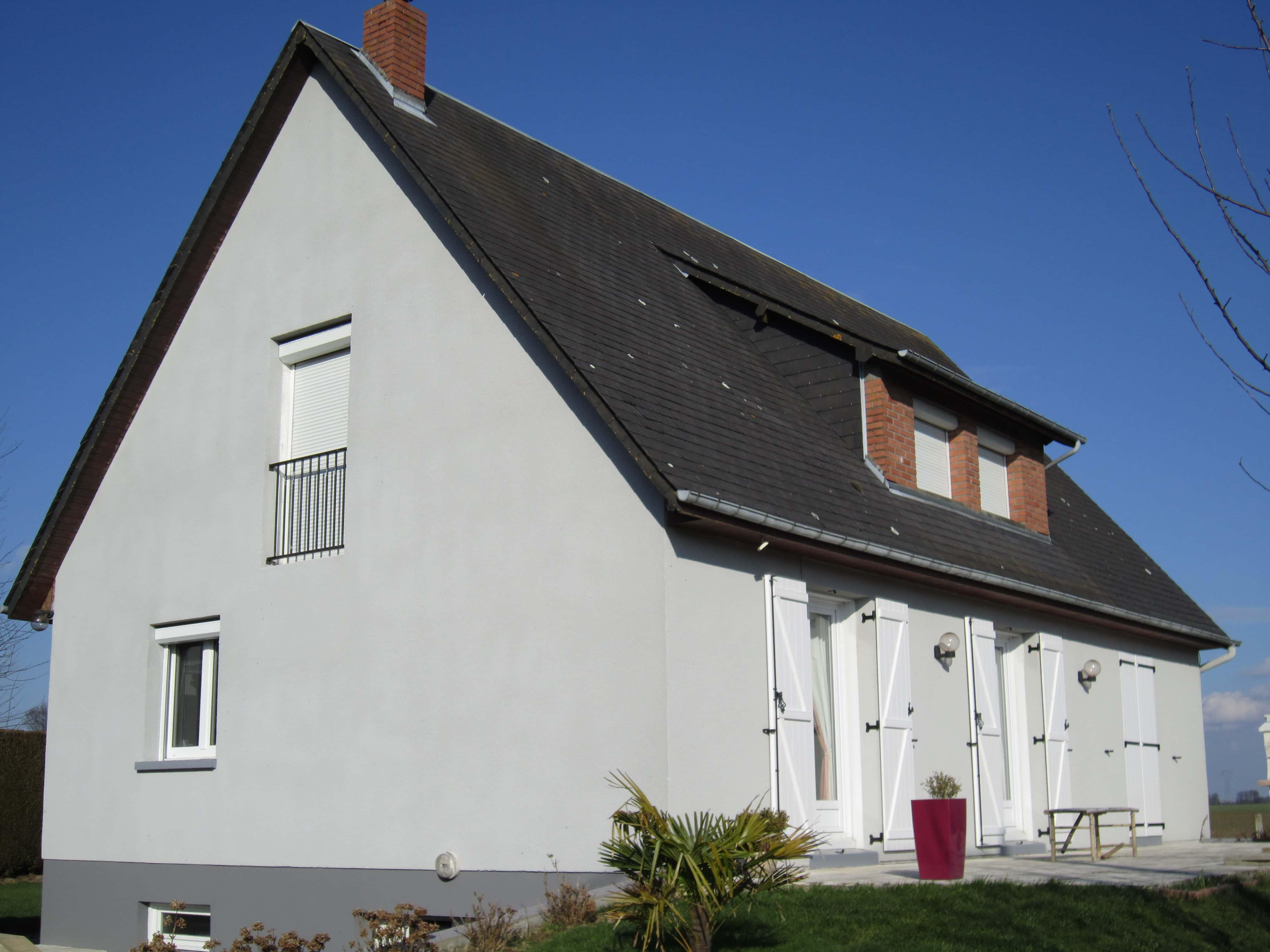 Rénovation moderne de façade