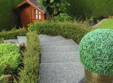 Escaliers en résine de marbre en Normandie